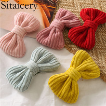 цена на Sitaicery Cute Children Hair Clip Hair Accessories Headwear Candy Color Bow Barrettes Kids Baby Girls Hairpins Full Cover Clips