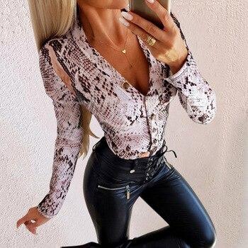 Leopard & Snake Skin Printed Bodysuit