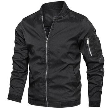 Autumn New Men's Bomber Zipper Jacket Male Casual Spring Streetwear Hip Hop Slim Fit Pilot Coat Men Clothing Plus Size 5XL 6XL