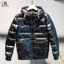 Parkas Jacket Overcoat Snow Winter 80%Duck-Down Male Thick Outwear Windbreaker Warm Men