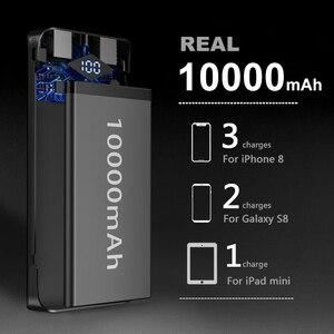 Image 4 - INIU 3A 10000mAh LED güç bankası çift USB taşınabilir şarj edici güç bankası harici telefon pil paketi için iPhone Xiao mi mi samsung