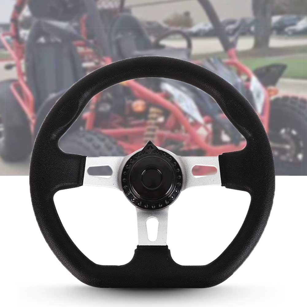 270mm PU Foam Replacement Accessories 3 Spokes Vehicle Steering Wheel Universal For Go Kart Interior With Holes Hardware Classic