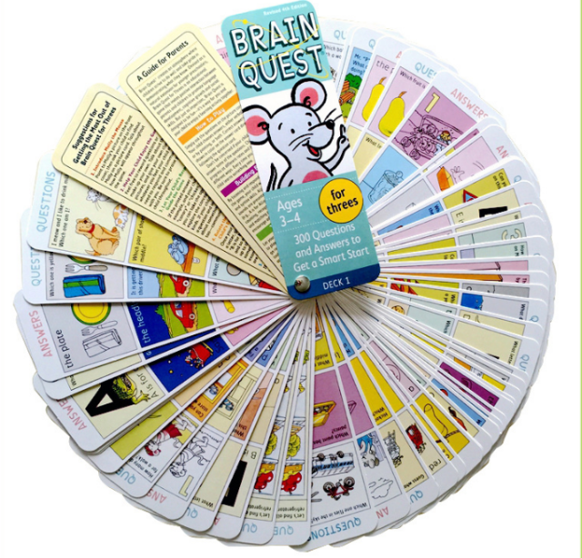 Cerveau Quest Version anglaise de la carte de développement intellectuel autocollant livres Questions et réponses carte Smart Start enfant enfants - 5
