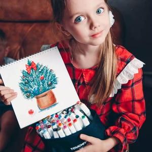Image 5 - Touchfive סמני עט סט 40/60/80/168 צבע אנימציה סקיצה סמן כפול ראש ציור אמנות מברשת עטים אלכוהול מבוסס עם 6 מתנות