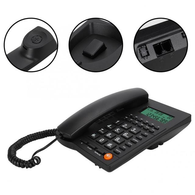 Telefone 홈 유선 전화 발신자 ID 전화 데스크톱 유선 전화 번호 번호 홈 오피스 호텔 레스토랑