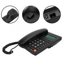 Telephone Desktop-Corded Dial Office Hotel Caller-Id Home for Restaurant Back-Number-Storage
