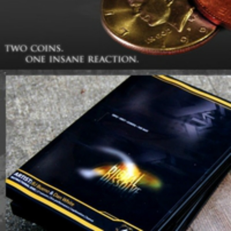 Digital Dissolve (Gimmick And Online Instructions) Dan White Coin Magic Tricks Close Up Magic Props Illusions Fun Coin Transfer