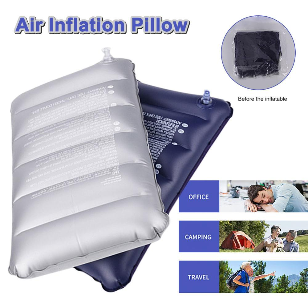 Foldable Pillow Outdoor  Inflatable Travel Sleep  Protable Rest Cushion Lightweight Compressible Ergonomic Camping  Pillows