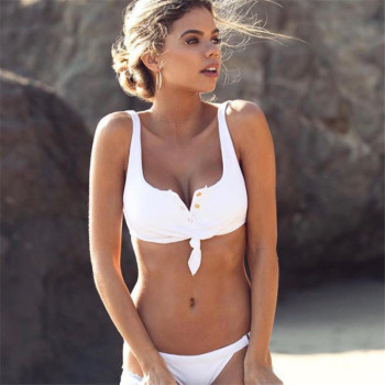 V Neck Bikinis Set