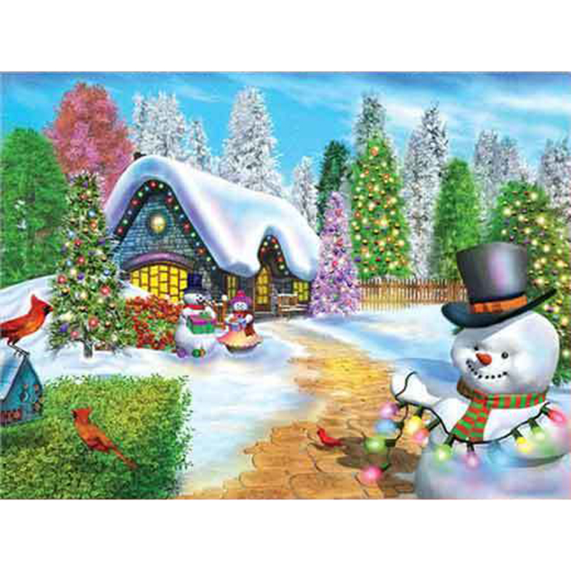 YI BRIGHT 5D Diamond Painting Full Square/Round Christmas Snowman Diamond Embroidery Cross Stitch Rhinestones Decor Art image