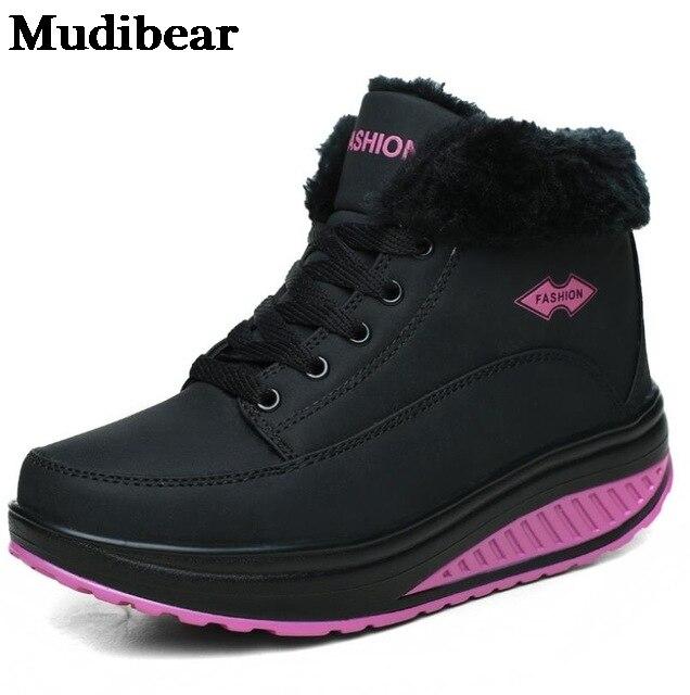 Фото mudibear 2020 зимние новые женские хлопковые туфли удобные увеличенные