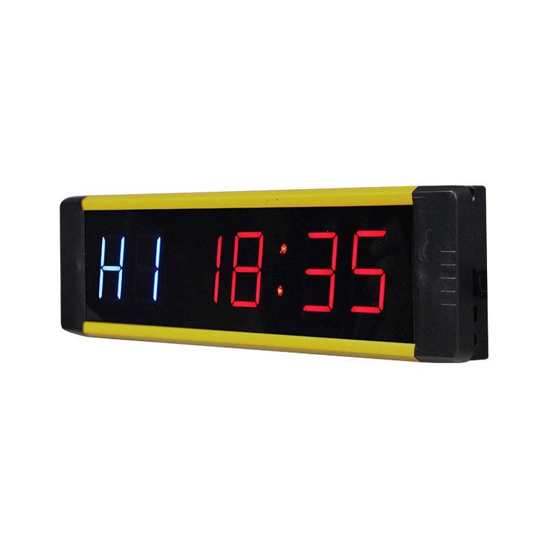 1'' Portable Led Electrical Mini Crossfit Timer Digital Wall Clock Gym Timer With Countdown/Count Up/Stopwatch