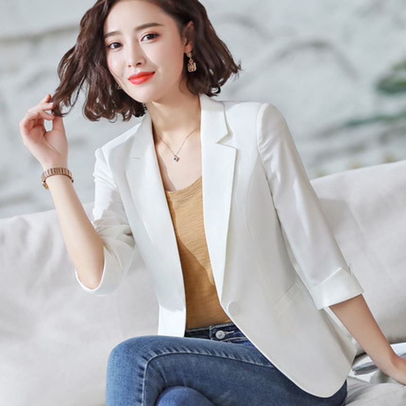 2020 new spring and summer high quality ladies blazer small suit Workwear office jacket feminine Fashion interview suit