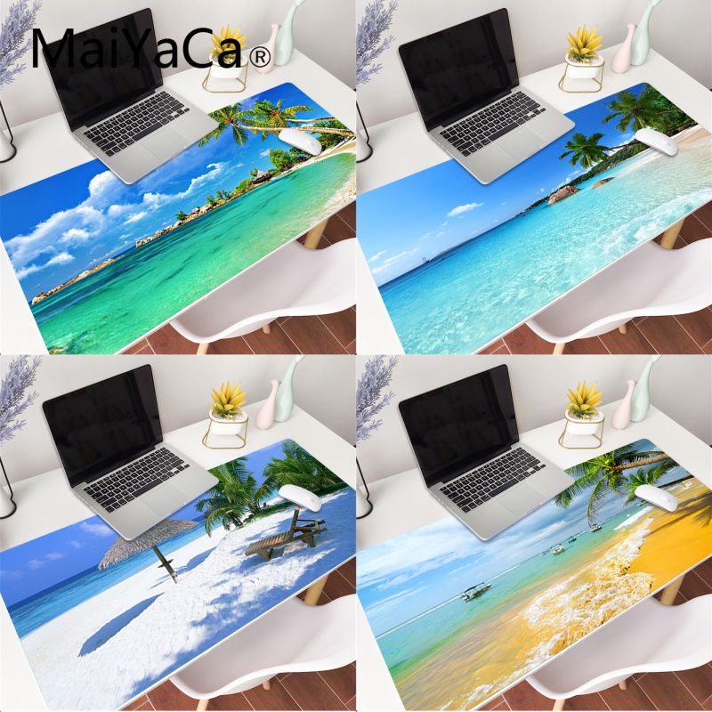 MaiYaCa Beach Sea Palm Scenery gamer play mats Mousepad Gaming Mouse Pad Large Deak Mat for overwatch/cs go/world of warcraft