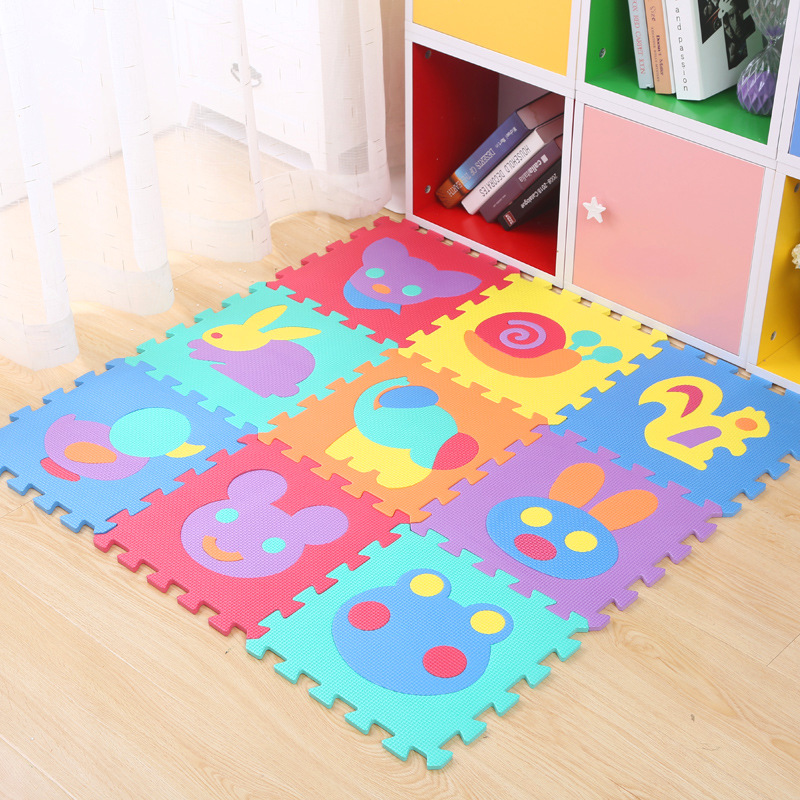 H193fb32321824c4d8bac46a06da7f431f 9Pcs/set EVA Foam Baby Play Mat Stitching Crawling Rug Kid Kruipen Mat Assembled Animal Carpet Puzzle Pad For Children Games