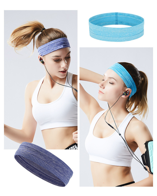 Sports headband men and women silicone sweat guide belt forehead scarf running basketball fitness yoga hair band 4