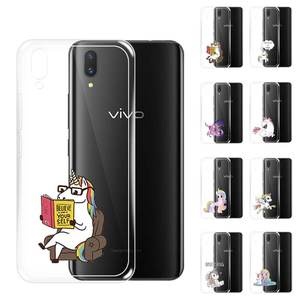 Unicorn Coloured Drawing Plans to Sample Customizable VIVO V11i V11 V9 Phone Case