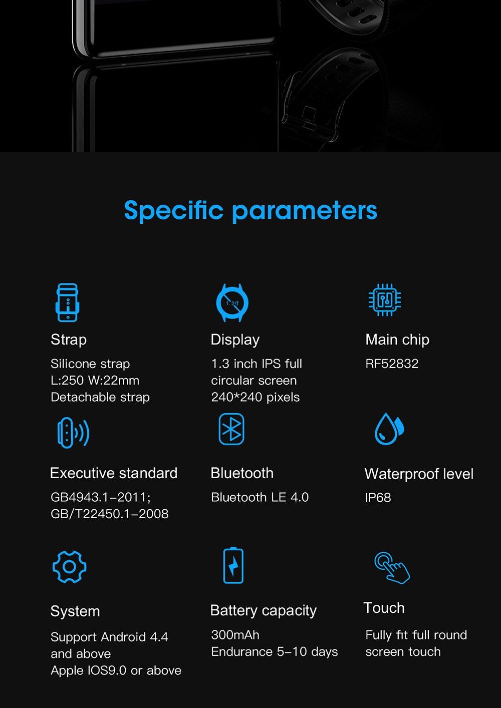 H193fe0c729cf4d1d9cef7db91c19d6110 696 L9 Full touch Smart Watch Men ECG+PPG Heart Rate Blood Pressure oxygen Monitor IP68 Waterproof Bluetooth Smart Bracelet