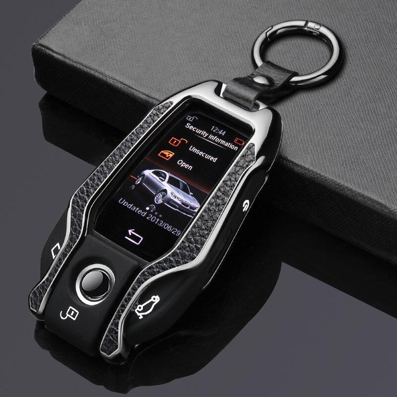 Genuine Leather Paste Zinc Alloy Car Key Case Cover For BMW 5 7 Series G11 G12 G30 G32 I8 I12 I15 G01 X3 G02 X4 G05 X5 G07 X7
