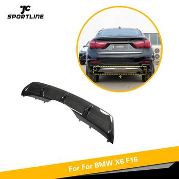 Carbon Fiber Rear bumper Lip Diffuser spoiler For BMW X6 F16 Standard 2015 2016 2017 2018 Body Kit Splitter image