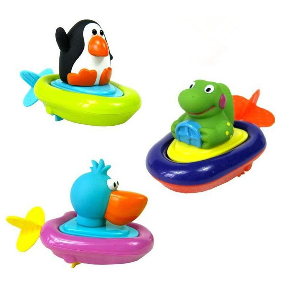 Cartoon Penguin Duck Crocodile Baby Easy To Pull Kid Bathtub Digging Rope Bathing Water Toy No Batteries Required