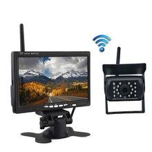цена на 7 Wireless Car Monitor TFT LCD Car Rear View Camera HD monitor for Truck Camera Night Vision Backup Camera Parking System Kit