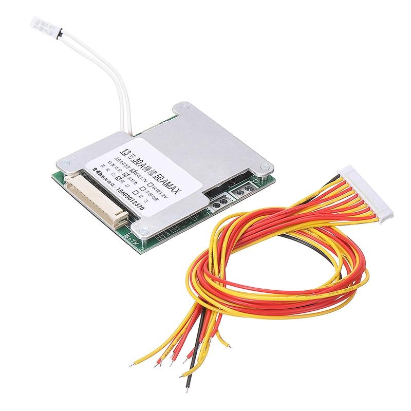 13S 48V 50A 18650 Li-ion lityum pil paketi BMS koruma PCB kartı ekolayzer dayanıklı tüketici elektroniği