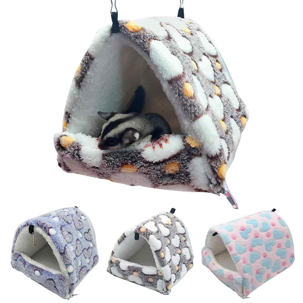 Augkun Hamster Hammock Hangat Sarang Dilepas Kantong Tidur Chinchilla Kelinci Kapas Kecil Sarang Tempat Tidur Hewan Peliharaan Hangat Tempat Tidur Gantung Di Saham