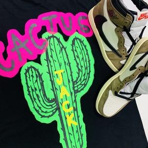 Трэвиса Скотта Мужская Женская модная короткая футболка кактус хлопок Канье Уэст Джек футболка хип-хоп Уличная harajuku футболка Топы Футболка