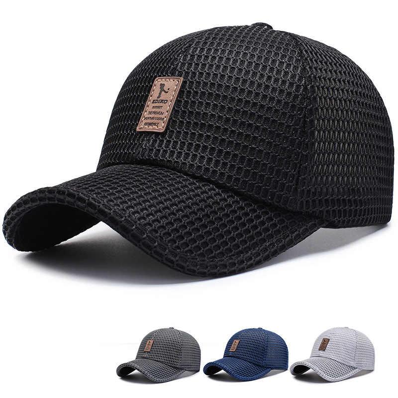 جديد وصول الكبار للجنسين شبكة البيسبول قبعات قابل للتعديل القطن تنفس مريحة ظلة قبعة الشمس Snapback قبعات Gorras