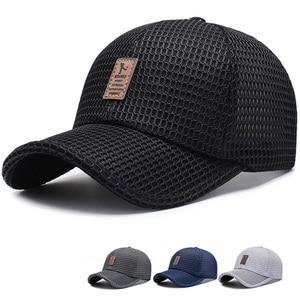 New Arrival Adult Unisex Mesh Baseball Caps Adjustable Cotton Breathable Comfortable Sunshade Sun Hat Snapback Caps Gorras(China)
