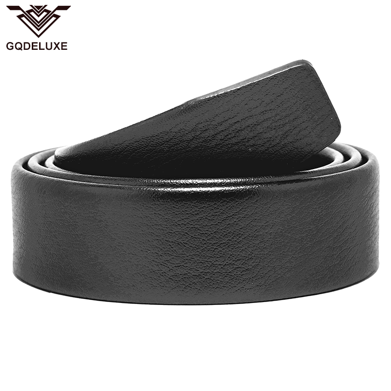 Men Folded Belt For Automatic Buckle Clutch Microfiber Leather 3.5cm Width No Buckle Black Scratch Proof Top Quality Guarantee