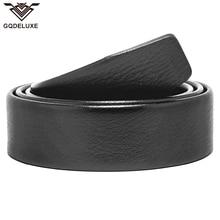 Men folded belt for automatic buckle clutch microfiber leather 3.5cm width no buckle black scratch proof top quality guarantee цена в Москве и Питере