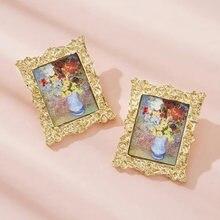 Жемчужные серьги для девочек портрет Моны Лизы пейзаж картина