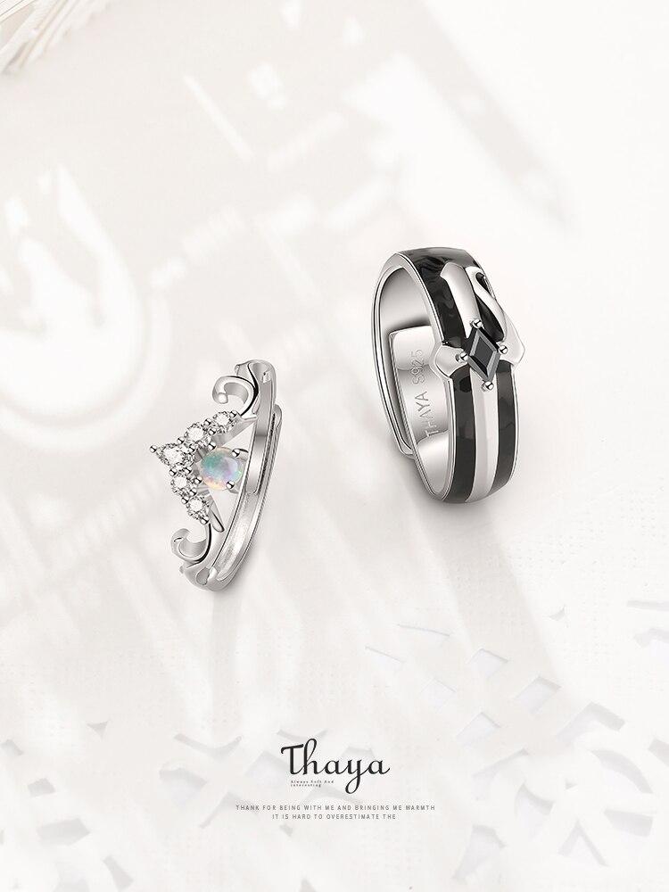 Thaya Couple Rings Fairy Tales-Series Sterling Opal-Design Luxury Jewelry Girl Women