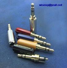 DHL/EMS 300 stuks Koper Vergulde 3 pin 3.5mm Male Stereo Jack Plug solderen Connector A7