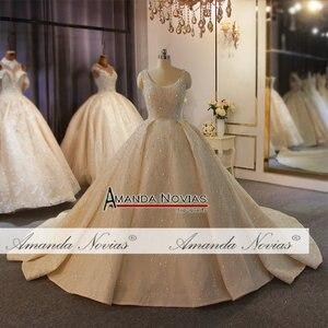 Image 2 - מדהים מלא ואגלי חתונת שמלת יוקרה 2020 מותג העבודה האמיתית אמנדה novias