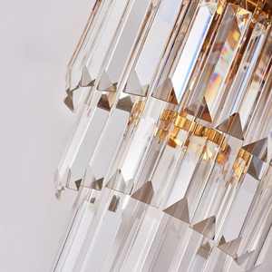 Image 4 - Youlaike Gold Modern Wall Sconces Lighting AC110 240V Two Level Crystal Wall Lamp Bedside Living Room Crystals Light Fixture