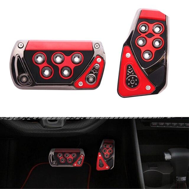 Araba gaz yakıt gaz debriyaj pedalı ABS ayak istirahat Pedal pedi kapağı oto iç aksesuarları evrensel otomatik