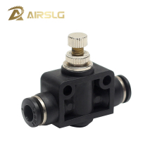 цена на Pneumatic Airflow Regulator PSA4 SA6 8 10 12mm OD Hose Tube Gas Flow Adjust Valve Connector Fitting Air Speed Control pipe valve