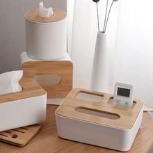 Деревянная пластиковая салфетка для домашней кухни, держатель для салфеток, простой стильный автомобильный ящик, держатель для салфеток
