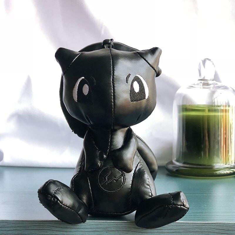 Fashion 12/30cm Black Mew PU Toy Fashion Mew Keychain Toy Stuffed Plush Pendant Mew Dolls Key Chain Plush TOYS