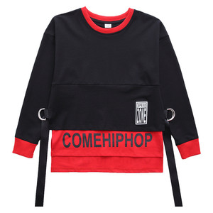 Image 4 - Spring 2019 baby clothes for boys Long Sleeve childrens costume for Baby Boys girls hip hop Jazz Dance Costume t shirt for kids