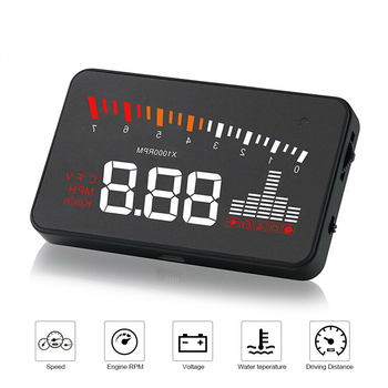 Car HUD OBD2 Head Up Display On-board Computer HUD Display Car Auto Windshield Speed Voltage Display Projector Overspeed Alarm