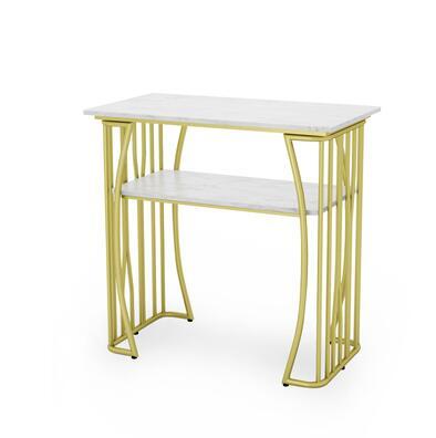 Чистый красный мраморный Маникюрный Стол И Набор стульев, одиночный двойной золотой железный двухэтажный Маникюрный Стол, простой и роскошный светильник - Цвет: 80CM