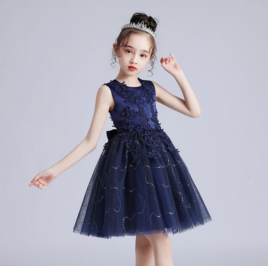 Vestido Infantil Kids Summer Princess Dress Girls Performance Costumes Children Birthday Party School Party Dresses 3-12yrs wear 7