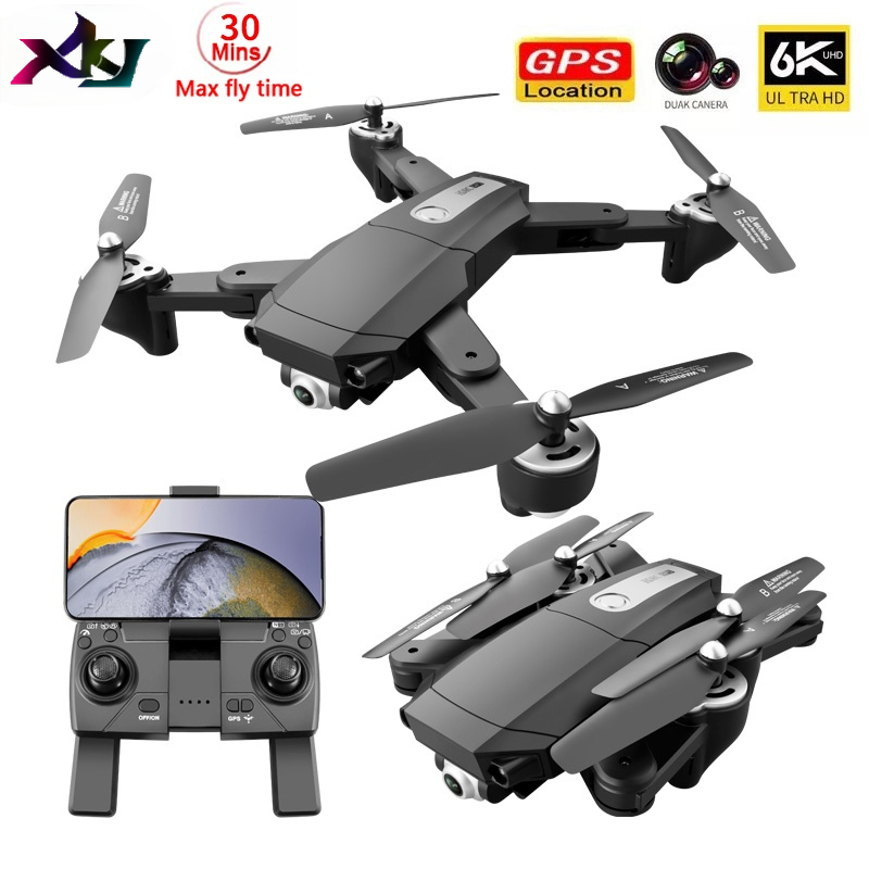 NEW S604PRO Drone 6K Dual HD Camera 4k Professional Aerial WIFI FPV RC Foldable Remote Distance 3KM Quadcopter Dron gps gifts