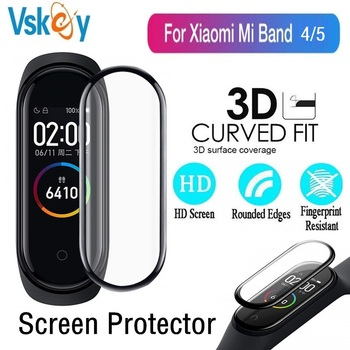 100PCS 3D Edge Soft Screen Protector for Xiaomi Mi Band 5 Smartwatch Miband 4 Full Cover Protective Film (No Tempered Glass)