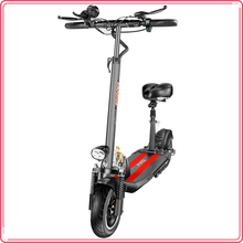 YOUPing Q02 Folding Electric Scooter 400W Motor 36V 10.4Ah 10 Inch max speed 25km/h max load 150kg Tire Containing Seats BLACK