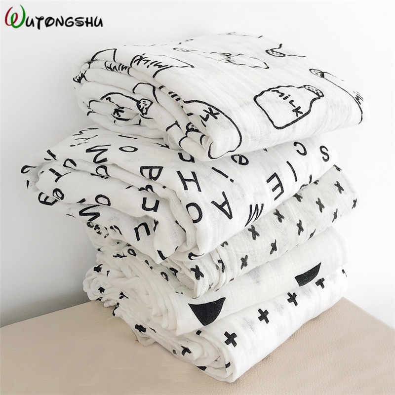 100*100 Muslin Baby Blankets Newborn Photography Accessories Soft Swaddle Wrap Organic Cotton Baby Bedding Bath Towel Swaddle